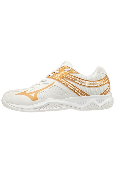 Unısex Beyaz Altın Voleybol Ayakkabısı