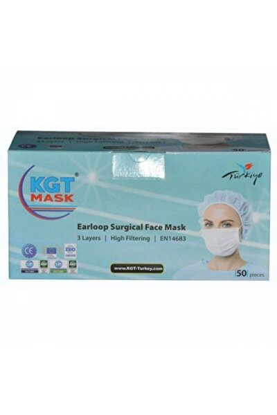 Maske Ultrasonik 3 Katlı Telli Medikal 50 Adet