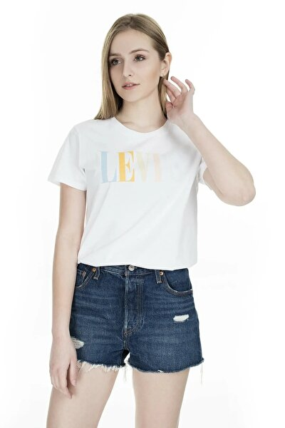 Kadın Beyaz The Perfect 90'S Serif T-Shirt 17369-0969