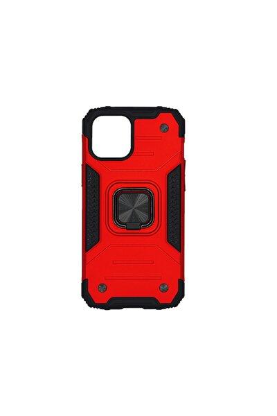 Xiaomi Redmi Note 8 Uyumlu Kırmızı Yüzüklü Standlı Zırhlı Mıktanıstlı Kılıf