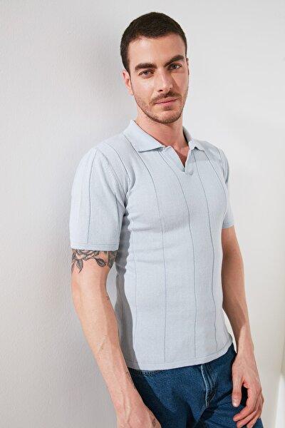 Mavi Erkek Slim Fit Kaçık Patlı Triko T-Shirt TMNSS20TS0149