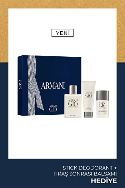 Acqua Di Gio Edt 100 ml Erkek Parfüm Seti 3614273375818