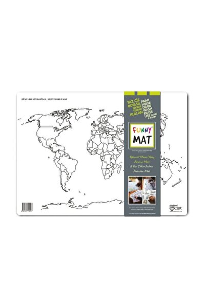 Funny Mat Dünya Dilsiz Haritası