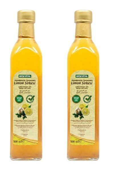 Maydanozlu Sarımsaklı Limon Sirkesi 500 Ml X 2 Adet