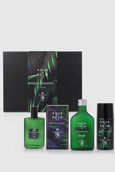 Gran Paradiso Jungle Erkek Hediye Seti Parfüm,tıraş Kolonyası,deodorant Stcn000401