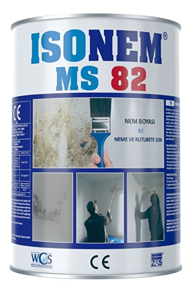 Beyaz Ms82 Nem Ve Rutubet Boyası 1 kg