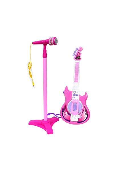 Pilli Mikrofonlu Gitar Seti Pembe