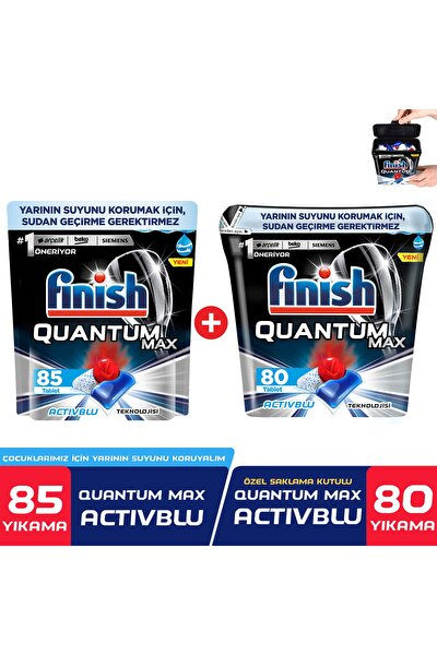 Quantum Max 85 Kapsül+Özel Saklama Kutusunda Quantum Max 80 Kapsül Bulaşık Makinesi Deterjanı