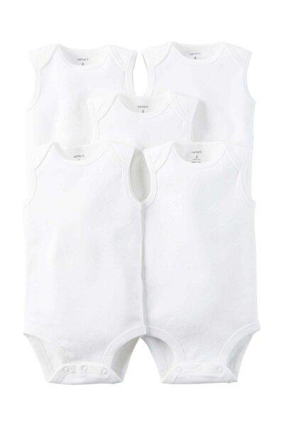Layette Bebek 5'li Beyaz Body - Sl