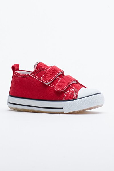 Kırmızı Çocuk Spor Ayakkabı Cırtlı Tb997