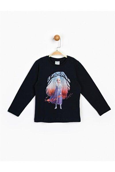 Kız Çocuk Siyah Uzun Kol Tişört 16308