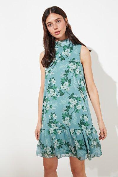 Mint Fırfır Detaylı Elbise TWOSS19XO0044
