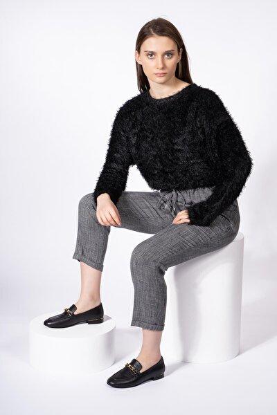 Hakiki Deri Kadın Makosen Babet Zincirli Günlük Klasik Ayakkabı