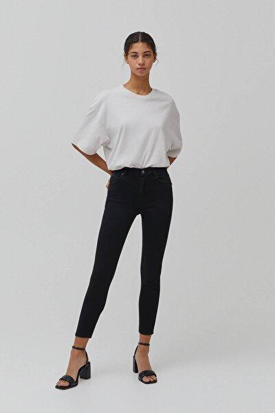 Kadın  Siyah Basic Orta Bel Jean 04681310
