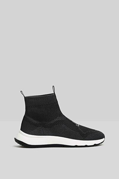 Kadın Siyah Çorap Model Örgü Yüksek Bilekli Spor Ayakkabı 11510760