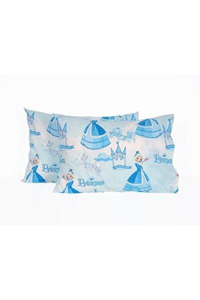Princess 2'li Yastık Kılıfı Mavi