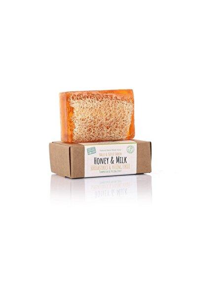 %100 El Yapımı Doğal Kabak Lifli Ballı-sütlü Sabun 130 gr