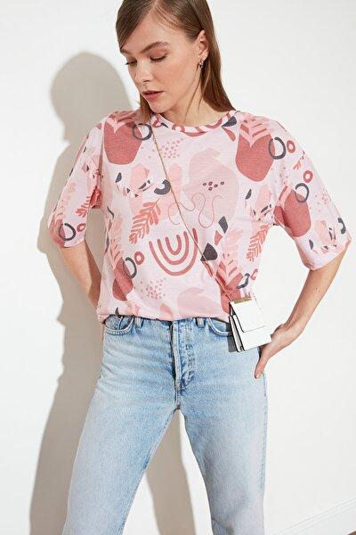 Pudra Loose Örme T-Shirt TWOSS21TS0909