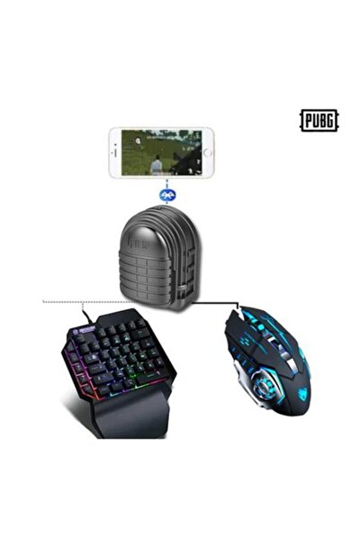Pubg Oyun Konsolu 3 In 1 Klavye Mouse Bağlayıcı-3'lü Set Mix 3