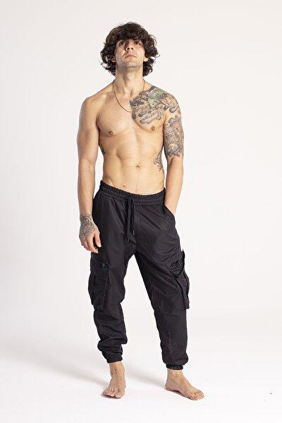 Siyah Kargo Cep Jogger Pantolon 1KXE5-44673-02