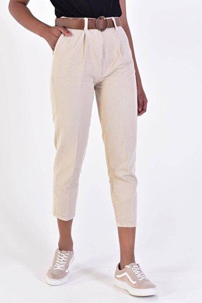 Kadın Taş Kemerli Pantolon Pn4204 - B6A6Z2 Adx-0000020952