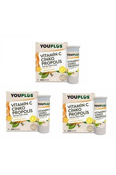 Vitamin C Çinko Propolis 20 Efervesan Tablet 3 Paket