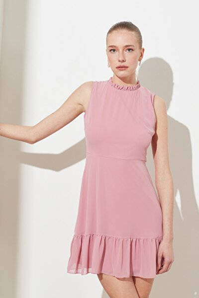 Gül Kurusu Fırfırlı Elbise TWOSS20EL0237