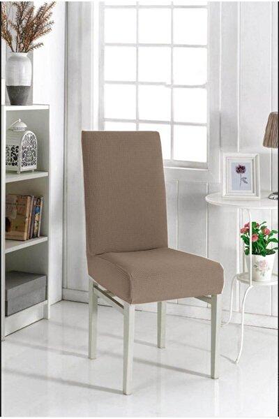 4 Adet Sandalye Kılıfı Yıkanabilir Likralı Esnek Lastikli Sandalye Örtüsü