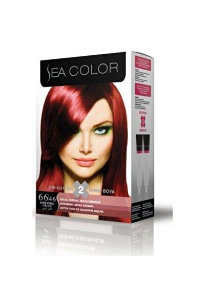 66,46 Ateş Kızılı 2 Li Tüp Saç Boyosı