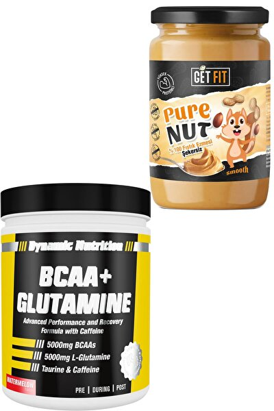 Dynamic Bcaa + Glutamine 300 gr + Şekersiz Getfit Purenut Doğal Fıstık Ezmesi  600 gr