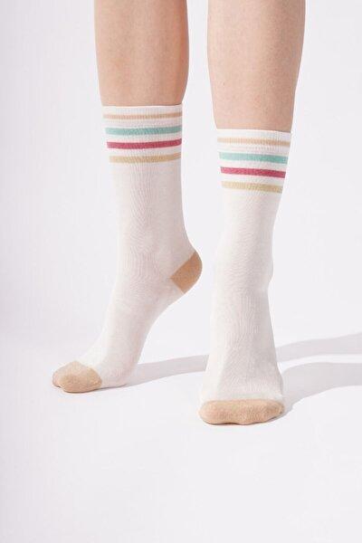 Maggy Luxury Kadın Soket Çorap - Ekru