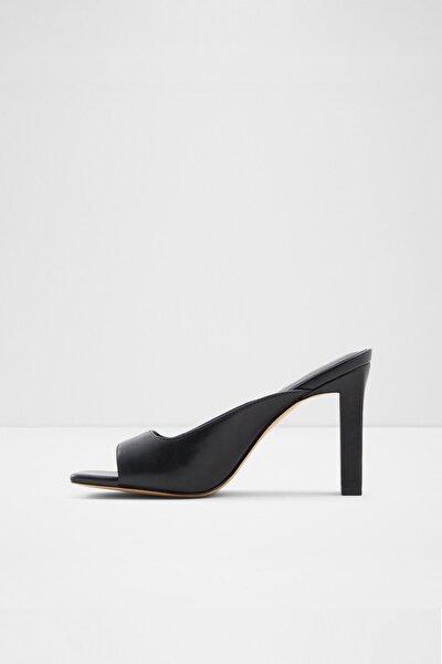 Kadın Siyah Topuklu Terlik- Gıanına