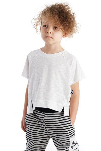 Çocuk Beyaz Asimetric Comfy  T-Shirt