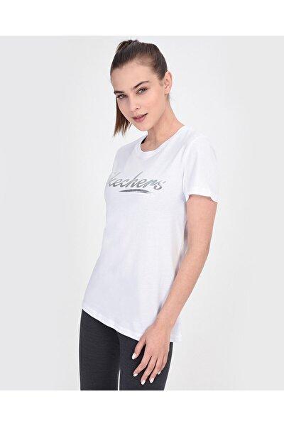 Graphic Tee's W Shine Up Logo Kadın Beyaz Tshirt