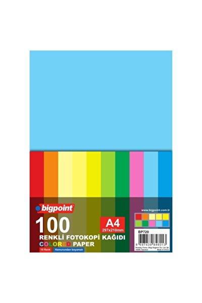 A4 Renkli Fotokopi Kağıdı 10 Renk 100'lü Paket