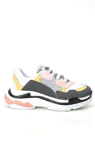 Kadın  Pudra Gri Sneaker Ayakkabı
