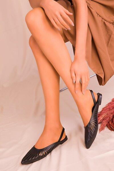 Siyah Kadın Sandalet 15027