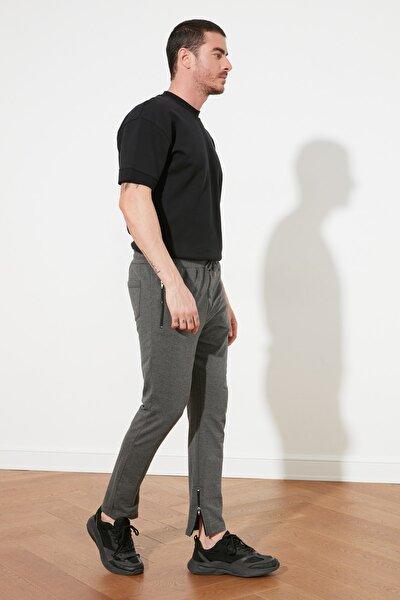 Antrasit Erkek Regular Fit Basic Paçası Fermuarlı Eşofman Altı TMNSS20EA0041