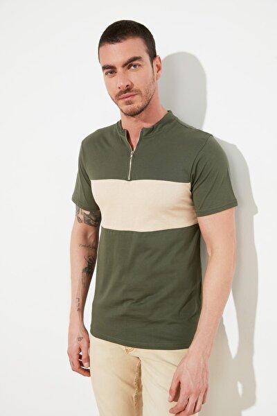 Haki Erkek Regular Fit T-Shirt TMNSS20TS1313