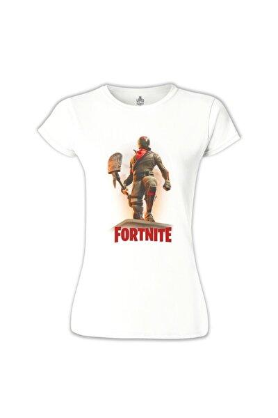 Kadın Beyaz Fortnite Horror Tshirt