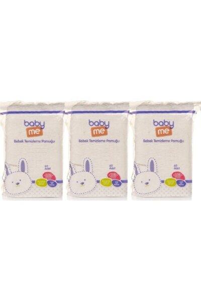 Baby&me Bebek Temizleme Pamuğu 3'lü Paket 60 Adetli
