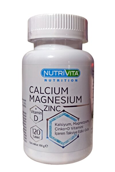 Calcium (kalsiyum) Magnesium (magnezyum) Zinc Vitamin D 120 Tablet Stk 01/2024