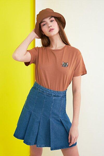 Somon Tom & Jerry Lisanslı Nakışlı Basic Örme T-Shirt TWOSS21TS0153