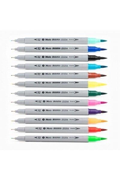 Brushpen Ve Fineliner 12 Renk Çift Taraflı