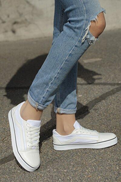 Unisex Beyaz Günlük Ortopedik Sneaker D044