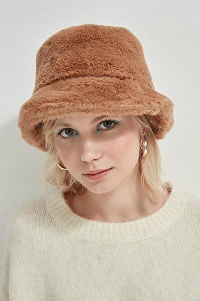 12839 Bej Rengi Bucket Şapka