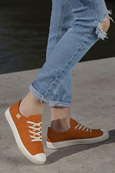 Kadın Turuncu Ortopedik Günlük Sneaker D608