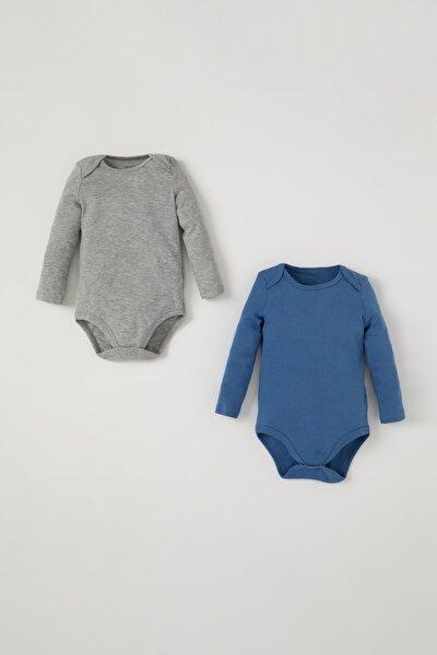 Erkek Bebek Basic Çıtçıtlı 2'li Pamuklu Body