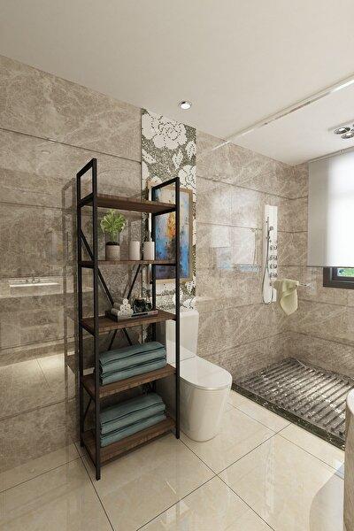 Açelya Çok Amaçlı Banyo Rafı - Ceviz