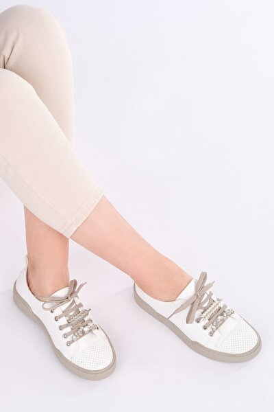 Kadın Beyaz Sneaker Ayakkabı Dalis